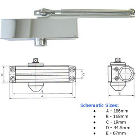 Eclipse Surface Mounted Door Closers
