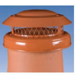 Junior Terracotta Cowl - Bolt Fixing - Additional Hook Bolt Fixing and Strap